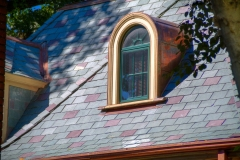 Custom copper detail stands out on this beautiful historic home in St. Louis.