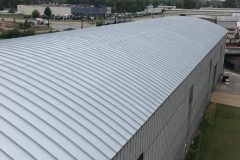 19k sq ft 'Standing Seam' metal roof, St. Louis City, completed 2018. Material: McElroy 238 Standing Seam Panels