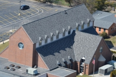Church with asphalt shingle roof, St. Louis County