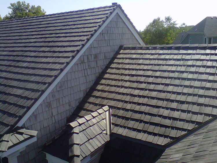 Polymer composite synthetic slate and shake shingles from for Polymer roofing