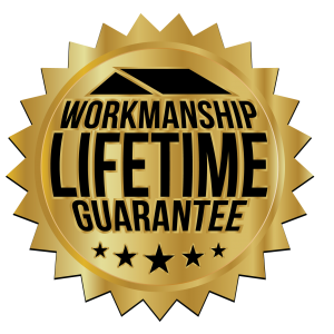 lifetime warranty badge for roofing